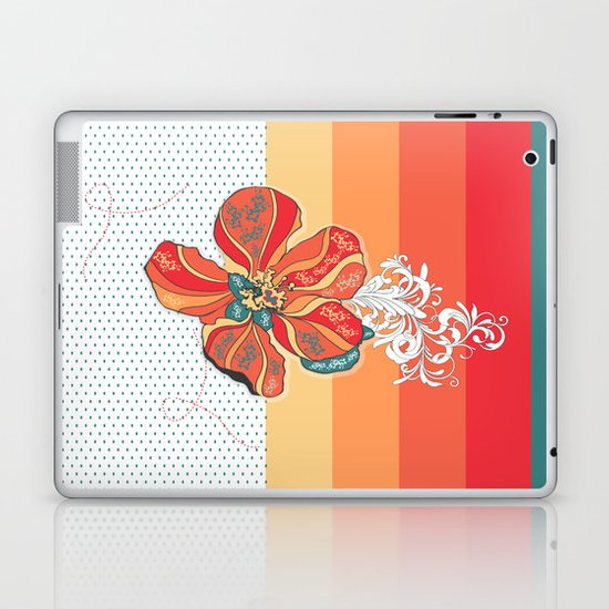 """Balance in orange"" has been selected to be included in the Society6 Shop! :) Laptop & iPad Skin"