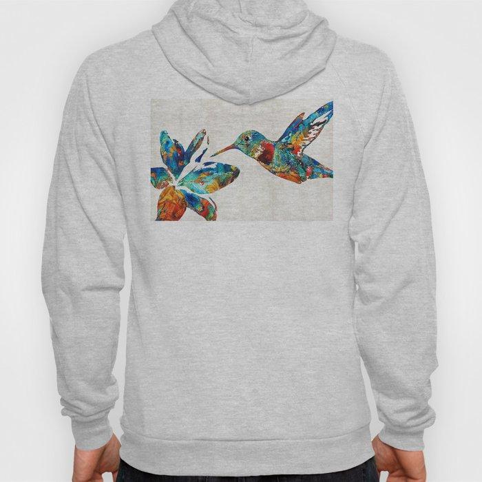 Colorful Hummingbird Art by Sharon Cummings Hoody