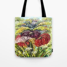 Fantasy Flowers Tote Bag