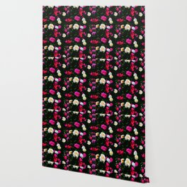 Dark Floral Rose Garden Wallpaper
