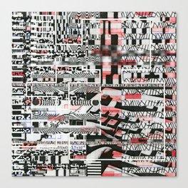 Click-N-Fail (P/D3 Glitch Collage Studies) Canvas Print