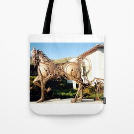 Horse & Plough by Shimon Drory Tote Bag
