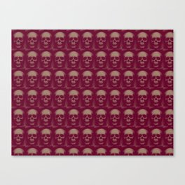 Specter and Spook's Skull Menagerie- Dusty Rose Canvas Print