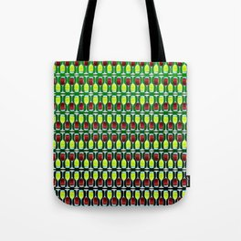 Wine Glasses Of Red And White Tote Bag