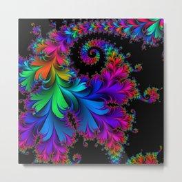 Rainbow Spiral Metal Print