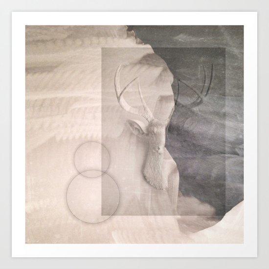 Elk Abstraction Art Print