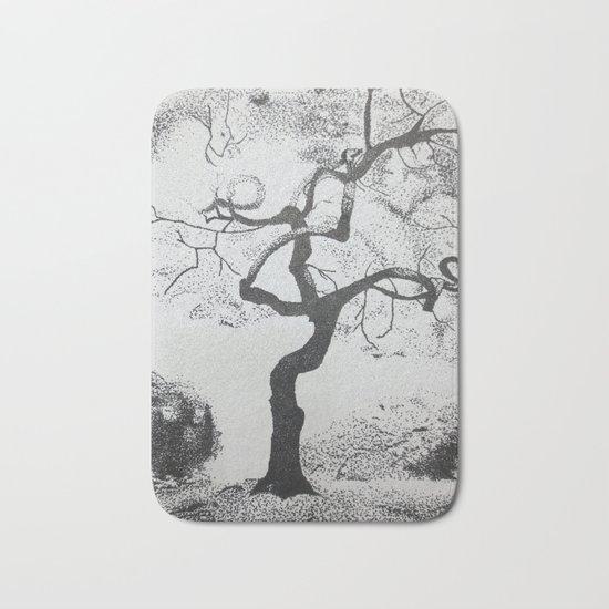 Pen and Ink Tree Bath Mat