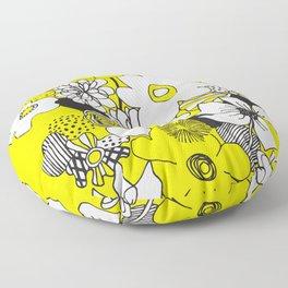 Floral Medley - Yellow Floor Pillow