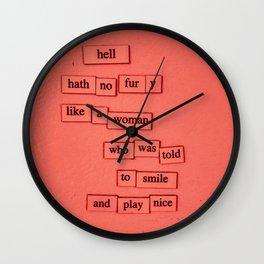 Hell Hath No Fury Wall Clock