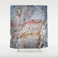 mineral Shower Curtains featuring Mineral Vein by LilyMichael Photography