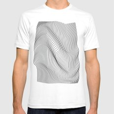 Minimal Curves MEDIUM Mens Fitted Tee White