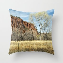 Red Rock State Park Meadow Throw Pillow