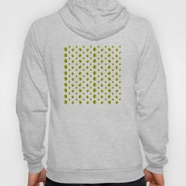 """Green Lemon Pattern Succulents Polka Dots"" Hoody"