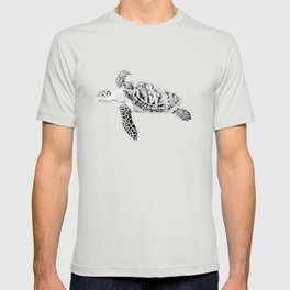Seaturtle Coastal Art Drawing T-shirt