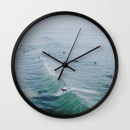 lets surf ix Wall Clock