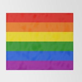 Rainbow Stripes Throw Blanket