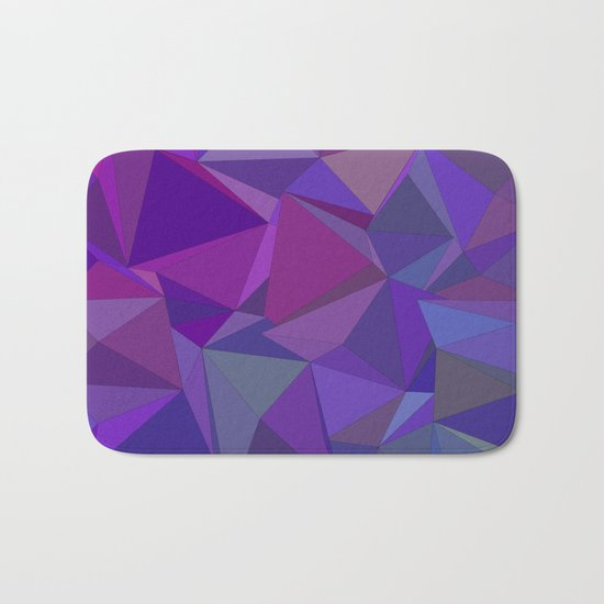 Chaotic purple tiles Bath Mat