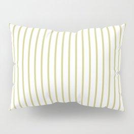 Fern Green Pinstripe on White Pillow Sham