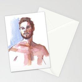 MARK, Semi-Nude Male by Frank-Joseph Stationery Cards