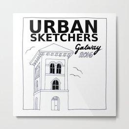 Urban Sketchers Galway Workshop 2016 (white) Metal Print