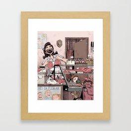 Boucherie charcuterie Framed Art Print