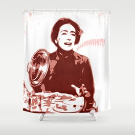 Joan Crawford - Aaaahhhh!!! - Pop Art Shower Curtain