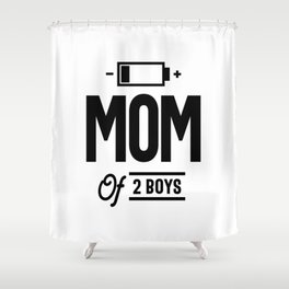 Mom of 2 Boys Gift from Mother's Day Shower Curtain
