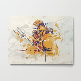 roman warrior with the trident Metal Print