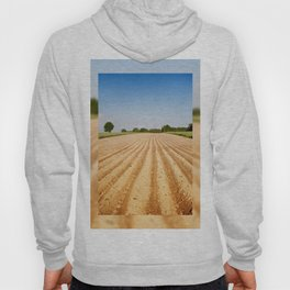 Ploughed agriculture field empty Hoody