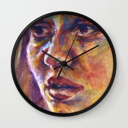 Portrait study V Wall Clock