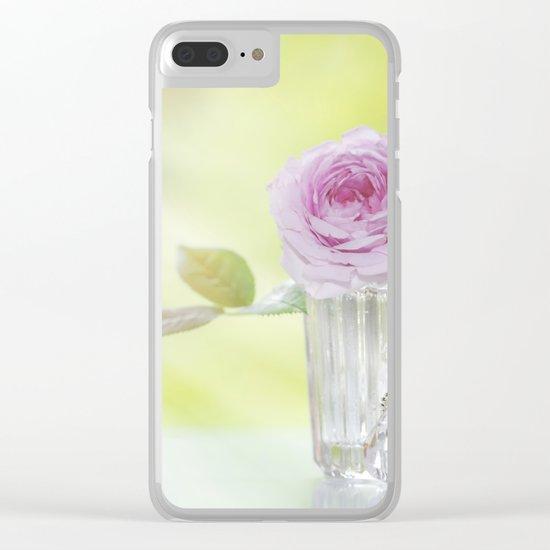 Rose love - Floral Roses Vintage Stilllife - Flowers Clear iPhone Case