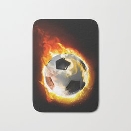Soccer Fire Ball Bath Mat