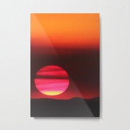 Smoky Summer Sunset Metal Print