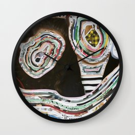 Time Traveler Couple Wall Clock