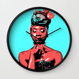 Blue Skies and Apples Wall Clock