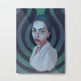 Girl from the Blue Metal Print