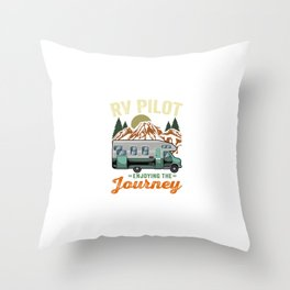 RV Camping Camper Throw Pillow