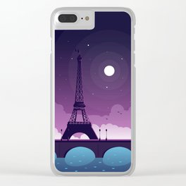 Paris Clear iPhone Case