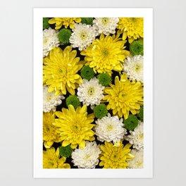 Yellow & Green Art Print