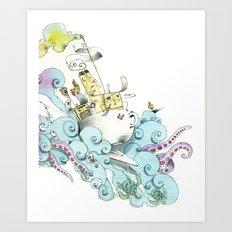 mon petit dejèune Art Print