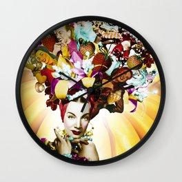 Carmen Miranda Collage Wall Clock