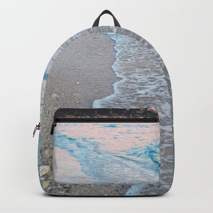 Pink Ocean Sunset Backpack