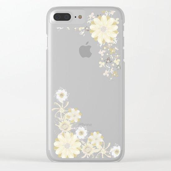 Fresh Beginnings Clear iPhone Case