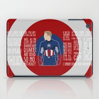 avenger iPad Cases featuring The First Avenger by MacGuffin Designs