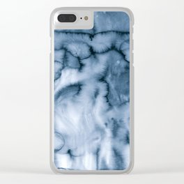 grey blues Clear iPhone Case