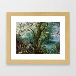 """Jan van Kessel de Oude """"Concert van Vogels"""" Framed Art Print"""