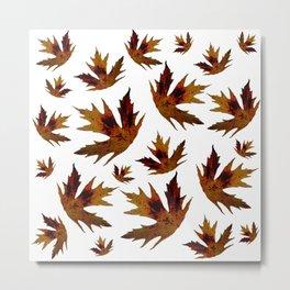yellow leaf pattern, nature, forest, season, autumn Metal Print