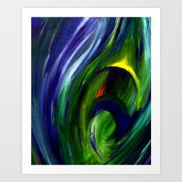Deep Water Feather Art Print