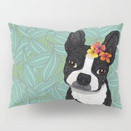 Tropical Boston Terrier Girl Pillow Sham