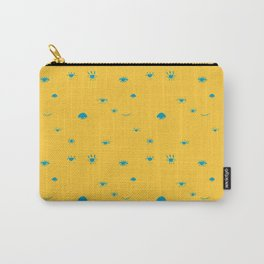 eyes pattern. bright yellow and blue colours. hand drawn vector drawing. Carry-All Pouch